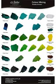 Acrylic Color Mixing Chart Shades Of Green Colour Mixing Atelier Acrylic