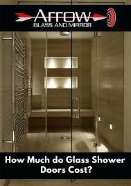 frameless glass shower doors cost door s