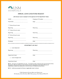 Sample Vacation Request Form Best Leave Application Form Template Idmanadoco