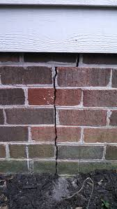 I Have A Crack In The Brick Veneer Of The Exterior Foundation Wall Sealing Exterior Brick Walls