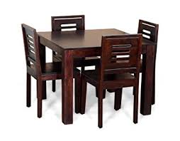 amazon dining room table set. madera ashley four seater dining table set (mahogany finish, brown): amazon.in: home \u0026 kitchen amazon room w