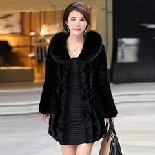 las womens warm faux fur coat jacket winter parka outerwear