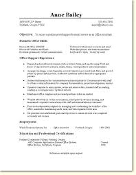 Resume For Office Assistant Adorable Office Assistant Resume Template Musiccityspiritsandcocktail