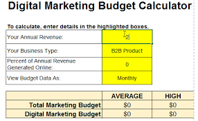 Online Budgeting How Much Should You Budget For Marketing In 2019