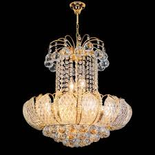 chandelier round ball clear glass crystal come with yellow stained holder chain gold and modern style