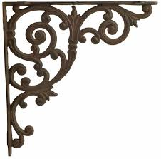 cast iron shelf brackets ornate shelf