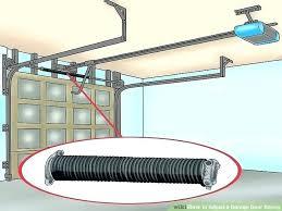 garage door tensioner garage door pulley repair image titled adjust a garage door spring step 2