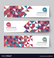 Triangle Banner Abstract Triangle Banner Flat Design