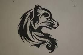 tribal wolf drawings in pencil. Beautiful Tribal Tribal Wolf Drawings In Pencil  Photo4 To Wolf Drawings In Pencil L