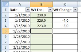Excel Weight Loss Tracker Contextures Blog