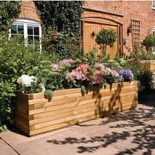 garden planters. Rectangular Planter Box Garden Planters