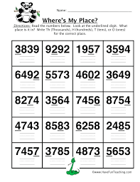 place value worksheets – streamclean.info