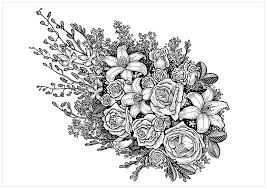 Flower Coloring Pages For Adults Free Printable Coloring Pages Of