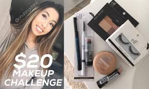 20 dollar makeup challenge tutorial vlog haul 21 75 ohdangdanii you