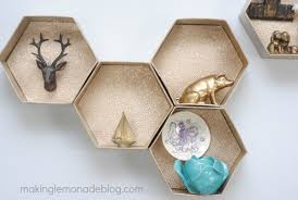 easy diy hexagon wall shelves you ll never guess what they re made