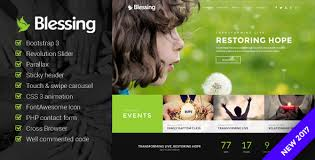 Church Website Templates Mesmerizing Blessing Church Website Template By SatriaThemes ThemeForest