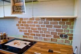... Painted Faux Brick Backsplash Vinyl Wallpaper Kitchen Backsplash:  Breathtaking Fake Kitchen Backsplash ...