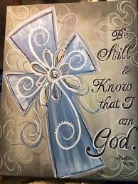 be still know that i am cross canvas paintingseasy