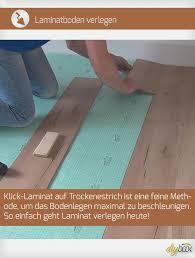 Laminat ist ein fußbodenbelag, dessen paneele grundsätzlich aus mehreren schichten aufgebaut ist. Laminatboden Verlegen Klick Laminat Auf Trockenestrich Anleitung Diybook De