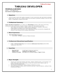 Tableau Developer 1 TABLEAU DEVELOPER MUNAGALA.ABHINAV Mobile: - (+)91  9908332555 ...