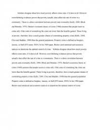 poverty fosters crime essay similar essays