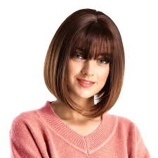 Amazoncom Hohome Women Wig With Bangs Bob Hairstyle Straight