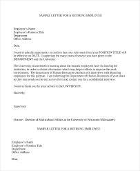 Format Of Retirement Letter From Employer Best Of Retirement Letter