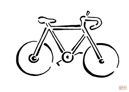 Drawn pushbike coloring page 38