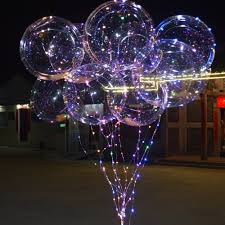 String Light Balloon Sowofa Clear Helium Balloon 18 Inch Latex Feathers 3m Led Strings Lighting Blinking Lightbar Valentine Carnival Party Wedding Decor Colorful