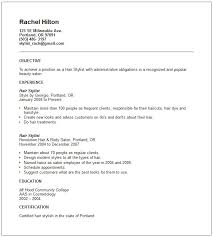 Resume Examples For Hairstylist Resume And Cover Letter Resume