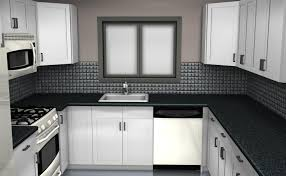 U Shaped Kitchen Casement Windows Small U Shaped Kitchen Dark Granite Countertop