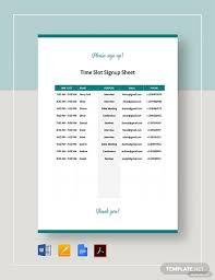 Sign Up Sheet Template Google Docs Time Slot Sign Up Sheet Template Word Google Docs