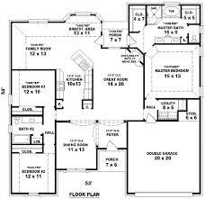 house plans 4 bedroom 3 bath imposing amazing 4 bedroom 2 bath house plans charming design