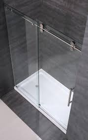 langham completely frameless sliding alcove shower door