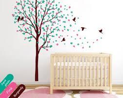 baby nursery tree wall decal mural stickers cherry blossom decor