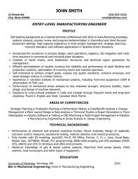 Manufacturing Engineer Resume Sample Template. what ...