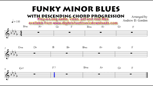 Blues Chord Progression Chart Funky Minor Blues With Descending Chord Progression Full Band Play A Long To Practice With
