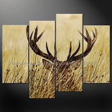 deer sunset cascade modern many sizes free postage oil painting canvas painting ideas realistic abstract painting