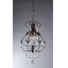 maleficent 1 light antique bronze chandelier