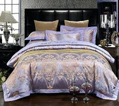 luxury purple bedding sets lilac violet satin duvet cover set jacquard bedspreads sheets bed in a coverlets king size comforter sets