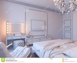 Modern Classic Bedroom 3d Render Of Bedroom Interior Design In A Modern Classic Style