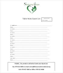 Wedding Guests And Gifts Table Guest List Template Word – Ukcheer ...