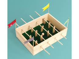 Miniature Wooden Foosball Table Game Make a Mini Foosball Table by Seedling Shop Now 18