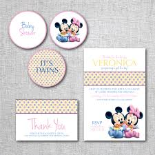 Photo Mickey Mouse Baby Shower Invitation Image