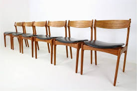 round wood dining table for 6 awesome teak dining chairs free set 6 danish by erik buch for o d 1960s