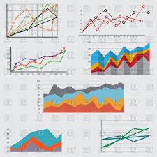 Free Charts And Graphs Diagrams Charts And Graphs Stock Vector Image