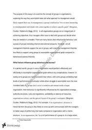 mgf introduction to management thinkswap management and groups essay