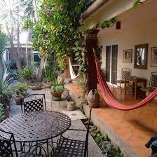 Elegant-hammoc-design-ideas-in-terrace-beside-garden-