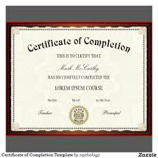 Printable Certificates Of Completion Pdfcertificateofcompletiontemplate 13