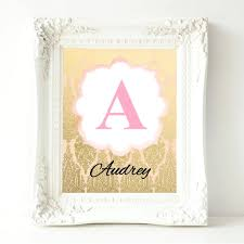 newest personalized baby wall art of personalized nursery print baby girl nursery wall decor